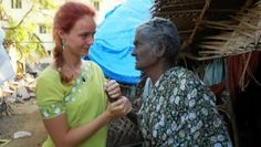 Ine Loossens, Belgian intern from the University of Brussels, Belgium (HUB), here in Cuddalore, South-India. Ine has been living in the slums midst the people she cared for.