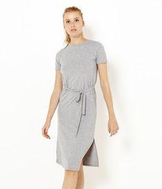 Robe longue près du corps ceinturée Pulls, Dresses For Work, Fashion, Woman Clothing, Dress Ideas, Skirt, Fashion Ideas, Moda, Fasion