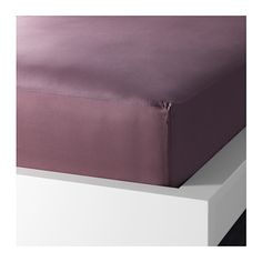 """IKEA - GÄSPA, Fitted sheet, Full/Double, , Sateen-woven bed linen in cotton is very soft and pleasant to sleep in, and has a pronounced luster that makes it look beautiful on your bed.The combed cotton gives the bed linen an extra smooth and even surface which feels soft against your skin.Fits mattresses with a thickness up to 13"""" since the fitted sheet has elastic edging."""