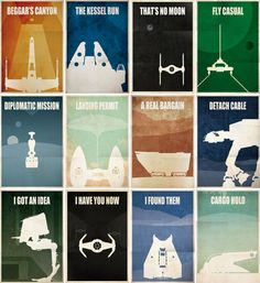 12 Licensed Star Wars Minimalist Poster Designs