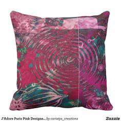 J'Adore Paris Pink Designer Pillow