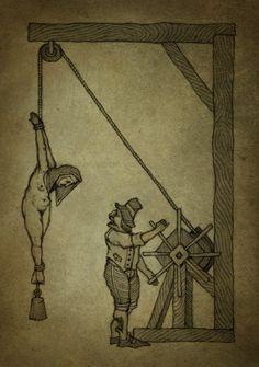 La corda è definita, fra le torture, la regina dei tormenti. Perché è facile da usare ma crea forti dolori, come nel caso dei tratti di corda qui descritti.
