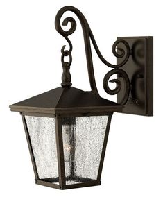 The Elstead Trellis Small Wall Lantern is in a Regency Bronze finish with clear seedy glass. The Trellis Small Wall Lantern by Hinkley Lighting has a refined elegance and is available from Luxury Lighting. Led Outdoor Wall Lights, Outdoor Wall Lantern, Outdoor Wall Sconce, Outdoor Walls, Outdoor Lighting, Lantern Lighting, Pergola Lighting, Luxury Lighting, Exterior Lighting