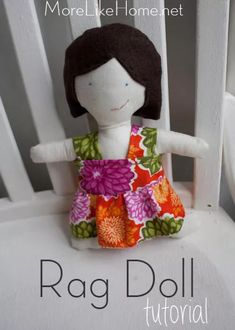 Welcome back, friends! This month we& working on 31 handmade gifts for everyone on your list. You can find links to the full series here. Rag Doll Tutorial, Operation Christmas Child, Child Doll, Softies, Kids Christmas, Craft Gifts, Sewing Crafts, Crafts For Kids, Sewing Patterns