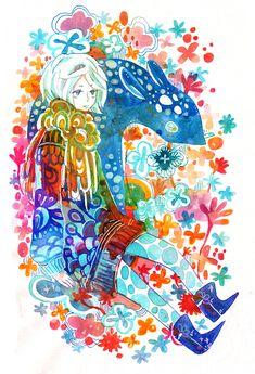 blue deer by koyamori.deviantart.com