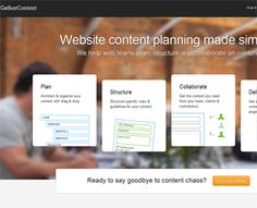 GatherContent - Web Content Planning  by csssubmit (via Creattica)