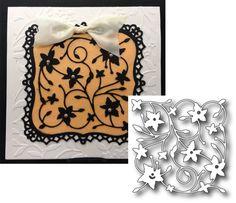 FLORAL SQUARE die - Memory Box metal cutting dies 98284 - flowers,frames,wedding #MemoryBox
