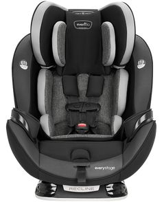 Evenflo Everystage Dlx All-In-One Convertible Car Seat Grey Toddler Car, Video Installation, First Car, Seat Pads, Used Cars, Baby Car Seats, Convertible, All In One, At Least