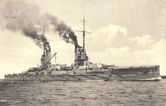German Battleship SMS Kaiser. Kaiser fought in the 3rd Battle Squadron at the Battle of Jutland 31st May 1916