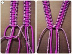 Brustgeschirr # different Braids for bracelets Brustgeschirr Paracord Tutorial, Swiss Paracord, 550 Paracord, Paracord Braids, Paracord Bracelets, Paracord Dog Leash, Parachute Cord, Paracord Projects, Paracord Ideas