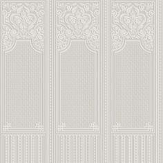 Oriental Dado Panel (RD06700) - Anaglypta Wallpapers - A paintable white dado panel design in the oriental style. Textured blown white vinyl.
