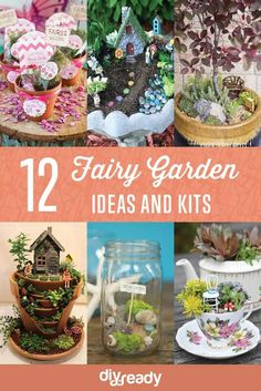 Fairy Garden Ideas and Kits | How To Make A Beautiful Fairy Garden from Broken Pots, Old Teacup or Jars. Easy DIY Tutorial for Spring,  that your Kids will Love!