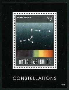 ANTIGUA - Scott NEW ISSUE Constellations Souvenir Sheet (P/3 @ Face) (1)  Another stamp from Herrick Stamp Company