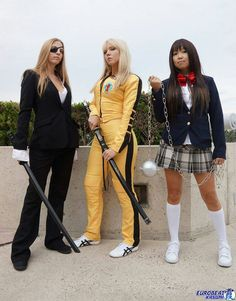 Kill Bill. Elle Driver, Beatrix Kiddo, Gogo Yubari costume / cosplay.