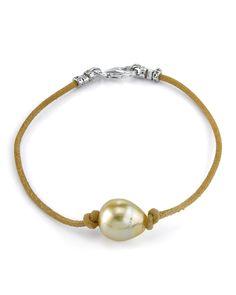 Pearl Jewelry, Gemstone Jewelry, Jewelry Bracelets, Pearl Bracelets, Bond Bracelet, Tiffany Bracelets, Diy Bracelets Easy, Leather Jewelry, Leather Cord