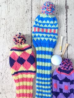 Birdy Caps by Little Church Knits - Welcome back to Free Pattern Friday, a fresh, new, free pattern every week! Knitting Patterns Free, Free Knitting, Free Pattern, Golf Head Covers, Golf Club Head Covers, Crochet Stitches, Knit Crochet, Knitting Projects, Knitting Ideas