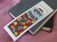 Pattern  Cross Stitch Bookmark  Gumballs by PictureThisCC on Etsy