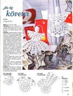 Best 11 – Page 427349452138408327 – SkillOfKing.Com Crochet Ornaments, Crochet Snowflakes, Angel Ornaments, Christmas Tree Decorations, Christmas Tree Ornaments, Christmas Stockings, Holiday Decor, Braided Rag Rugs, Diy And Crafts