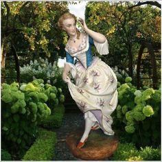 Antique French Vion & Baury bisque figurine of maiden .