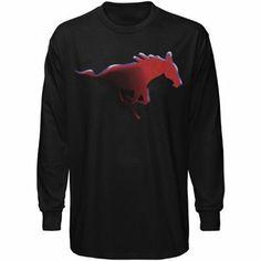 SMU Mustangs Black Blackout Long Sleeve T-shirt