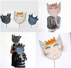 DIY cardboards maks from Max and the Maxi Monsters #halloween #cardboar #mask #diy