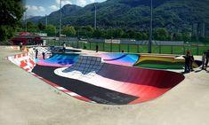 Skatepark Sundial: uma pista de skate convertida em relógio solar,Cortesia de Skatepark Sundial em Lugano, Suíça. Fonte: Zuk Club (Facebook)