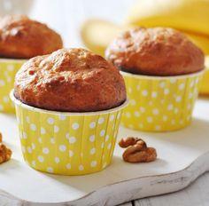 Muffin mit Banane und Walnüssen