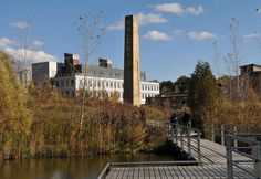 The derelict brick factory in Toronto's Don Valley has been adapted and rehabilitated into the Evergreen Brick Works project.