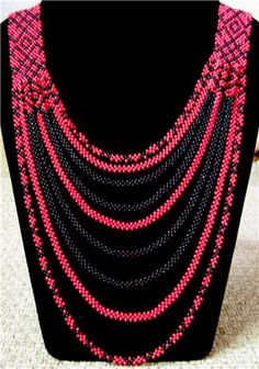 gerdan Donetsk in white and red | biser.info - all about beads and beaded works - NOT A TUTORIAL, JUST AN IDEA