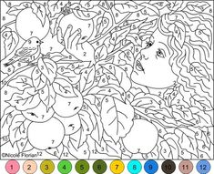 color by number coloring pages hard WHIMSICAL COLOR BY NUMBER - Google Search