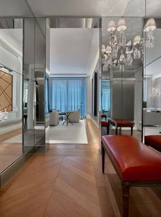 Prestige Suite Entrance at The Baccarat Hotel New York