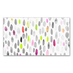 Colorful modern brushstrokes polka dots pattern business card