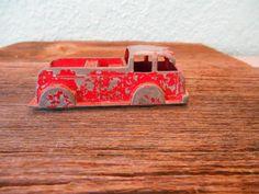 Antique die cast red fire truck-Child's toy by SouvenirAndSalvage