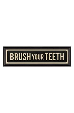 Free shipping and returns on SPICHER AND COMPANY 'Brush Your Teeth' Vintage Look Sign Artwork at Nordstrom.com. A 12-color giclée print with a cool, vintage look and feel is professionally framed and ready for hanging.