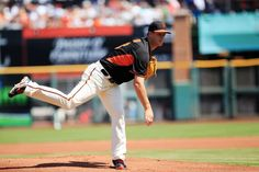 San Fran pitcher Matt Cain to retire after Saturday start  -  September 27, 2017:  San Francisco Giants pitcher Matt Cain on the mound during a spring training game against the Los Angeles Dodgers at Scottsdale Stadium.