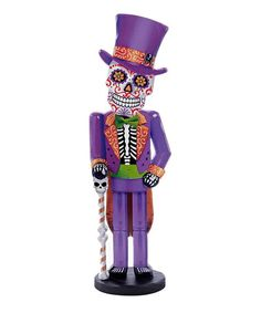 Another great find on #zulily! Kurt Adler Day Of The Dead Man Wood Statue…