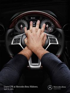 Mercedes-Benz: CPR Wheel | #ads #marketing #creative #werbung #print #poster #advertising #campaign < found on www.adsoftheworld.com pinned by www.BlickeDeeler.de