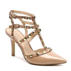 BCBG Generation Studded Pump BNWB | Two Tone Nude With Gold Studs | 3.5in Heel | SIZING NOTE: These run a half size small! Best for a size 8:)   Cheaper on Ⓜ️ercari! BCBGeneration Shoes Heels