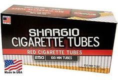 Shargio Red (Full Flavor) 100s Size Cigarette Tubes  - 4 Boxes1,000 Tubes
