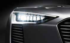 Audi e-tron Spyder concept headlight (computer rendering)