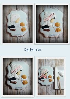 """The Cookie Lab by Marta Torres Steps 5 to 8 on """"How did I make it"""""""