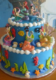 Little Mermaid Cake.. for my 30th bday redo this year :)