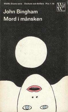 John Bingham, Mord i månsken (Original title: Marion), cover by Per Åhlin, printed 1965