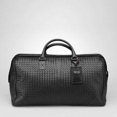 bottega+veneta+men+bag | ... New-Authentic-Bottega-Veneta-Mens-Nero-Intrecciato-VN-Large-Duffel-Bag