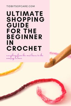 Find out what you'll need to learn crohcet. #crocheting #yarn Learn To Crochet, Lifestyle Blog, Everything, Learning, Crocheting, Shopping, Crochet, Studying, Teaching