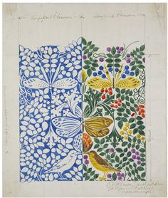 Textile design | Charles Francis Annesley Voysey | V&A Search the Collections - made in 1918