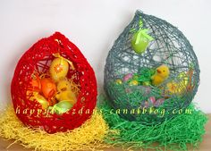 Bricolage de Pâques 1: Oeuf en fil petit nid