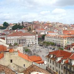 Lisbon's charming Rossio Square. Photo courtesy of luyjamie on Instagram.