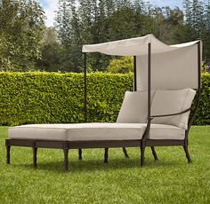 Antibes Canopy Daybed Painted Metal