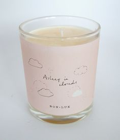 asleep in clouds votive candle www.bon-lux.com